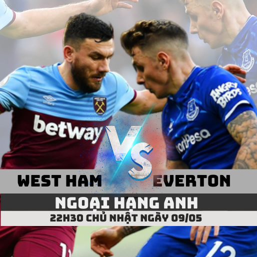 ty le keo west ham vs everton